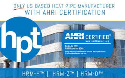 HPT: Now AHRI Certified