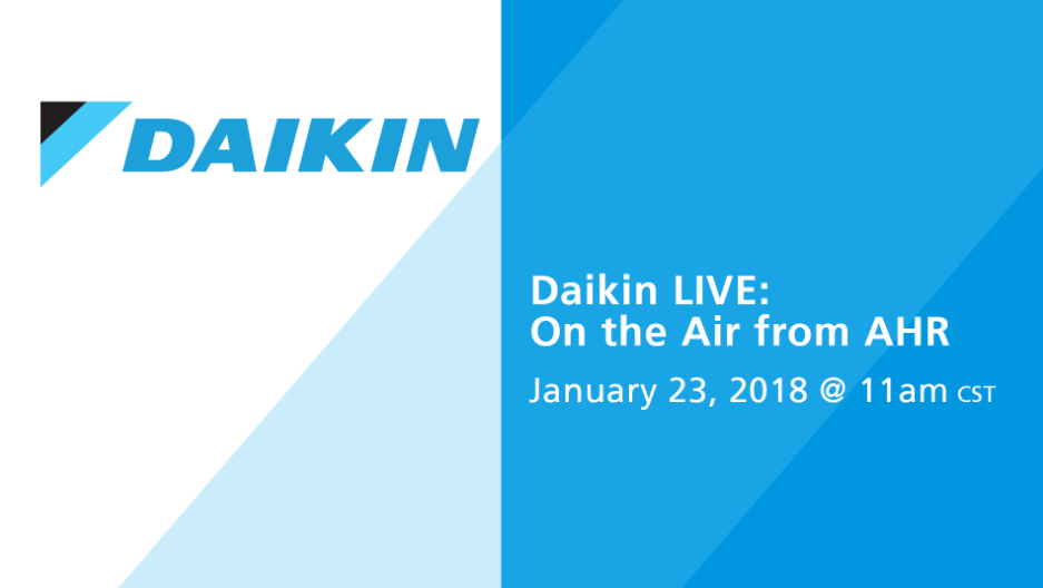 Daikin LIVE: On the Air from AHR 2018