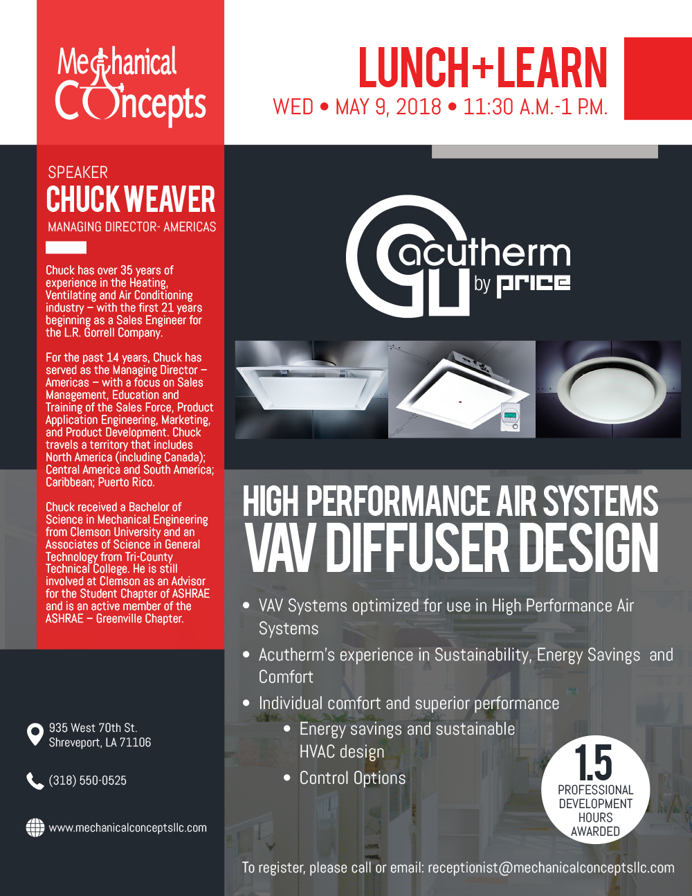 Acutherm Lunch + Learn @ Mechanical Concepts | Shreveport | Louisiana | United States