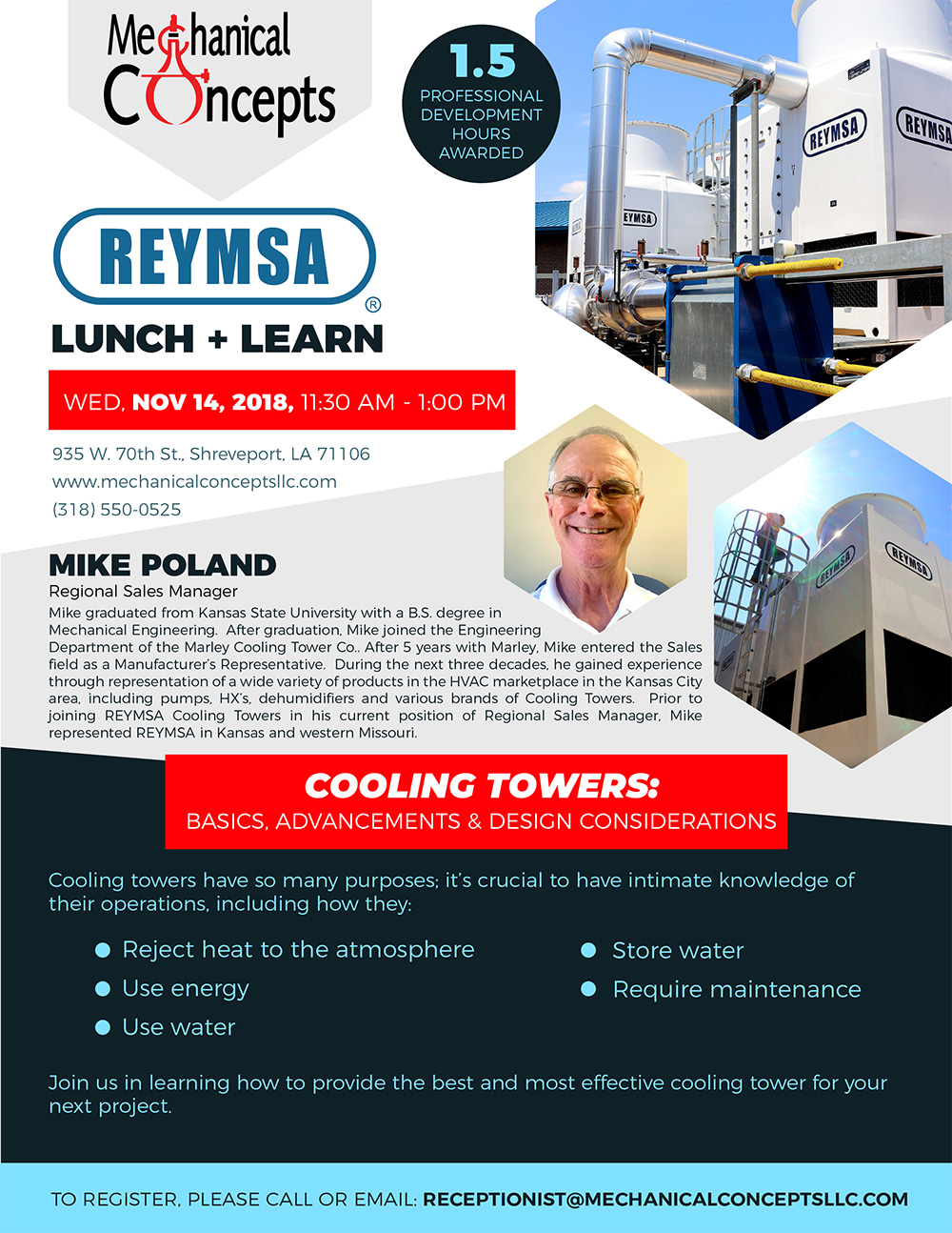 Reymsa Lunch + Learn @ Mechanical Concepts | Shreveport | Louisiana | United States