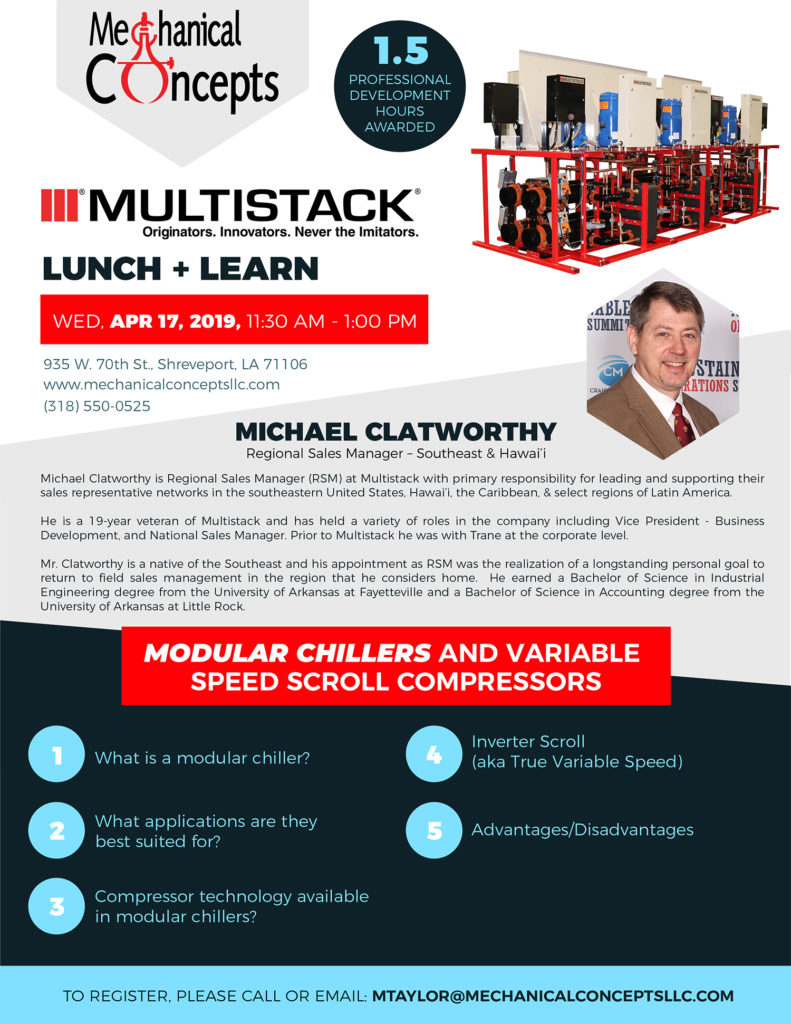 Multistack Lunch + Learn Seminar @ Mechanical Concepts | Shreveport | Louisiana | United States