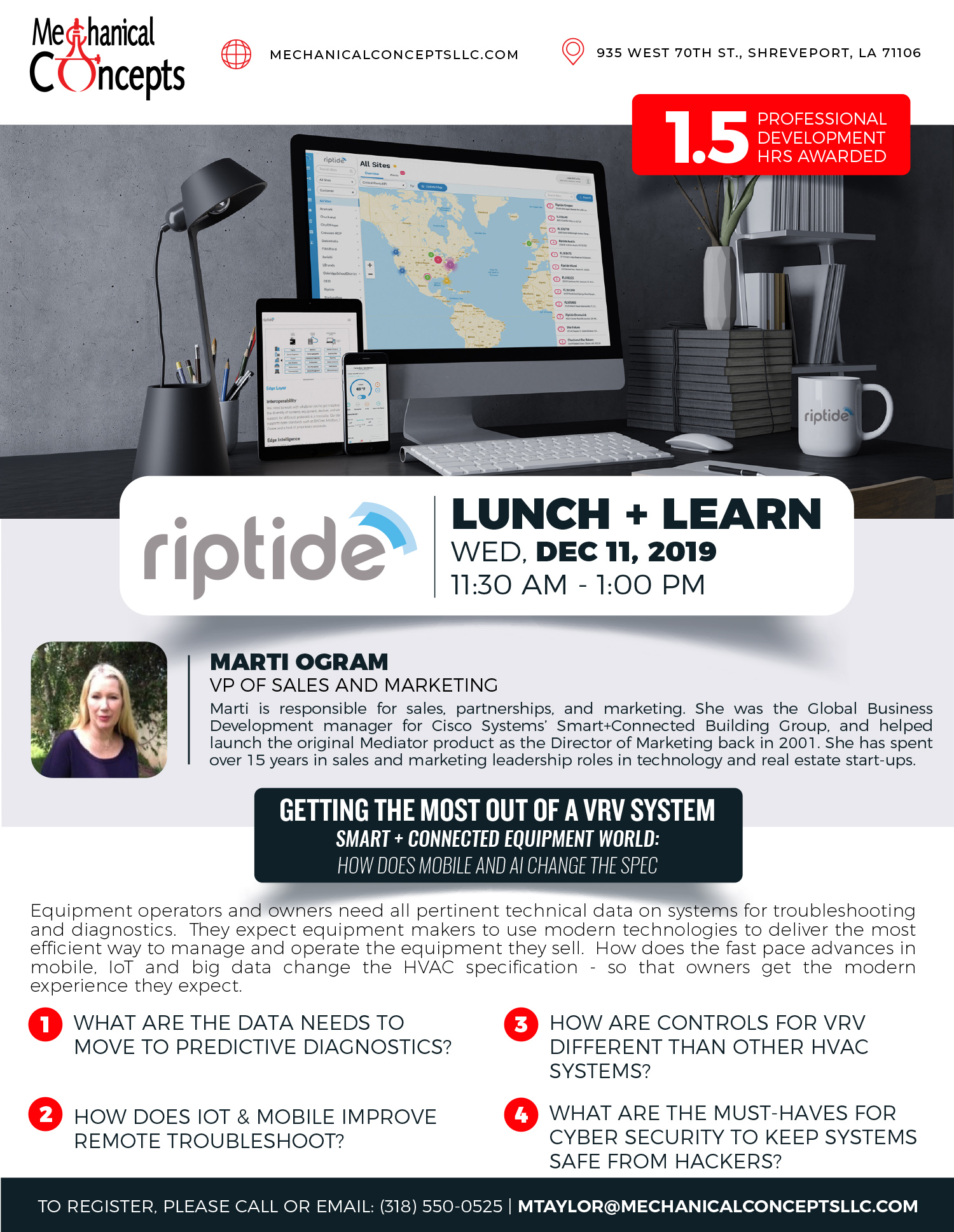 Riptide Lunch + Learn @ Mechanical Concepts | Shreveport | Louisiana | United States