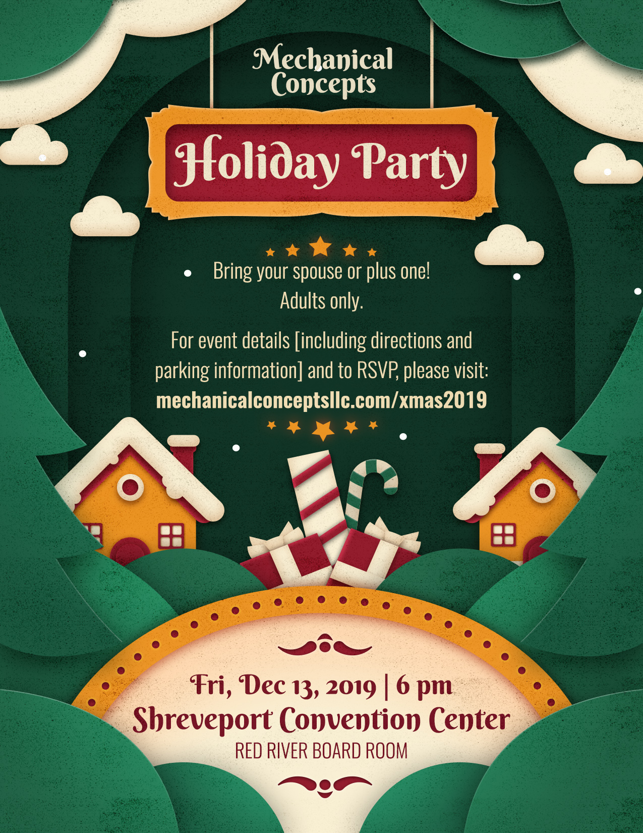 Mechanical Concepts Team Holiday Party @ Shreveport Convention Center